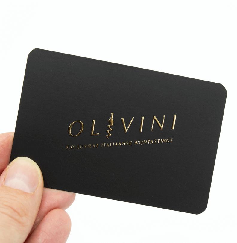 Visitekaartjes met goudfolie