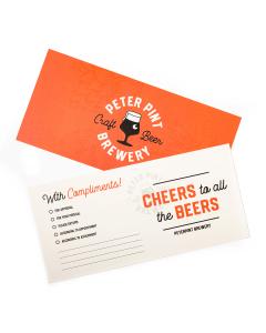 Compliment cards drukken afbeelding