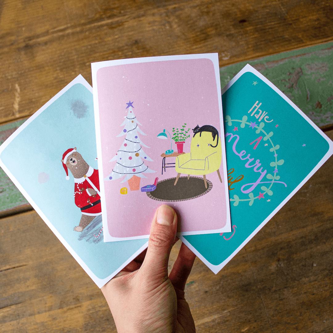 Kerstkaarten drukken