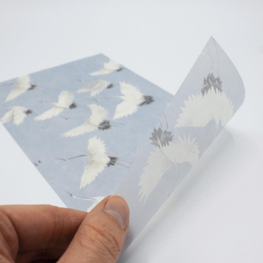 Geboortekaartjes kalkpapier drukken