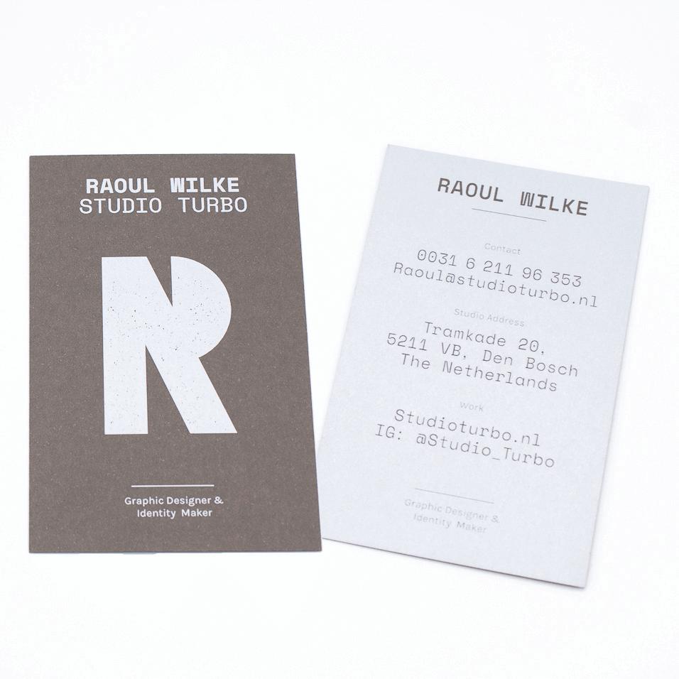 Visitekaartjes met witte inkt