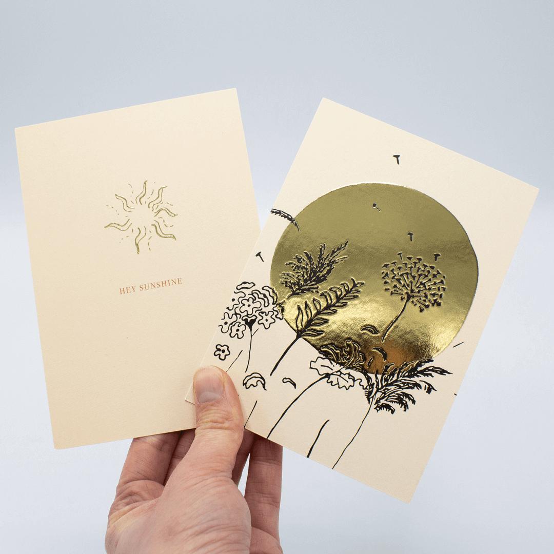 Kaarten drukken goudfolie