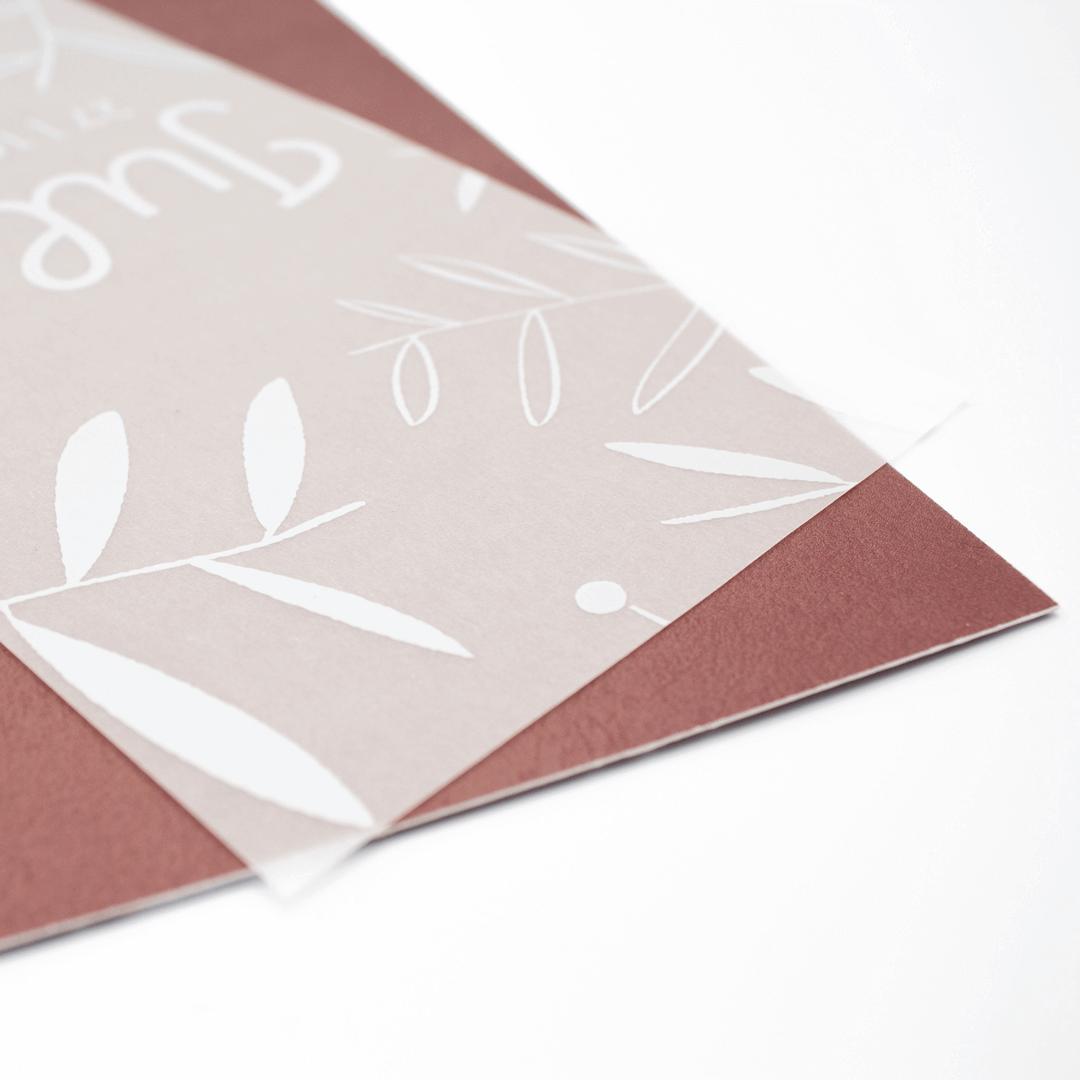 Geboortekaartjes met kalkpapier drukken