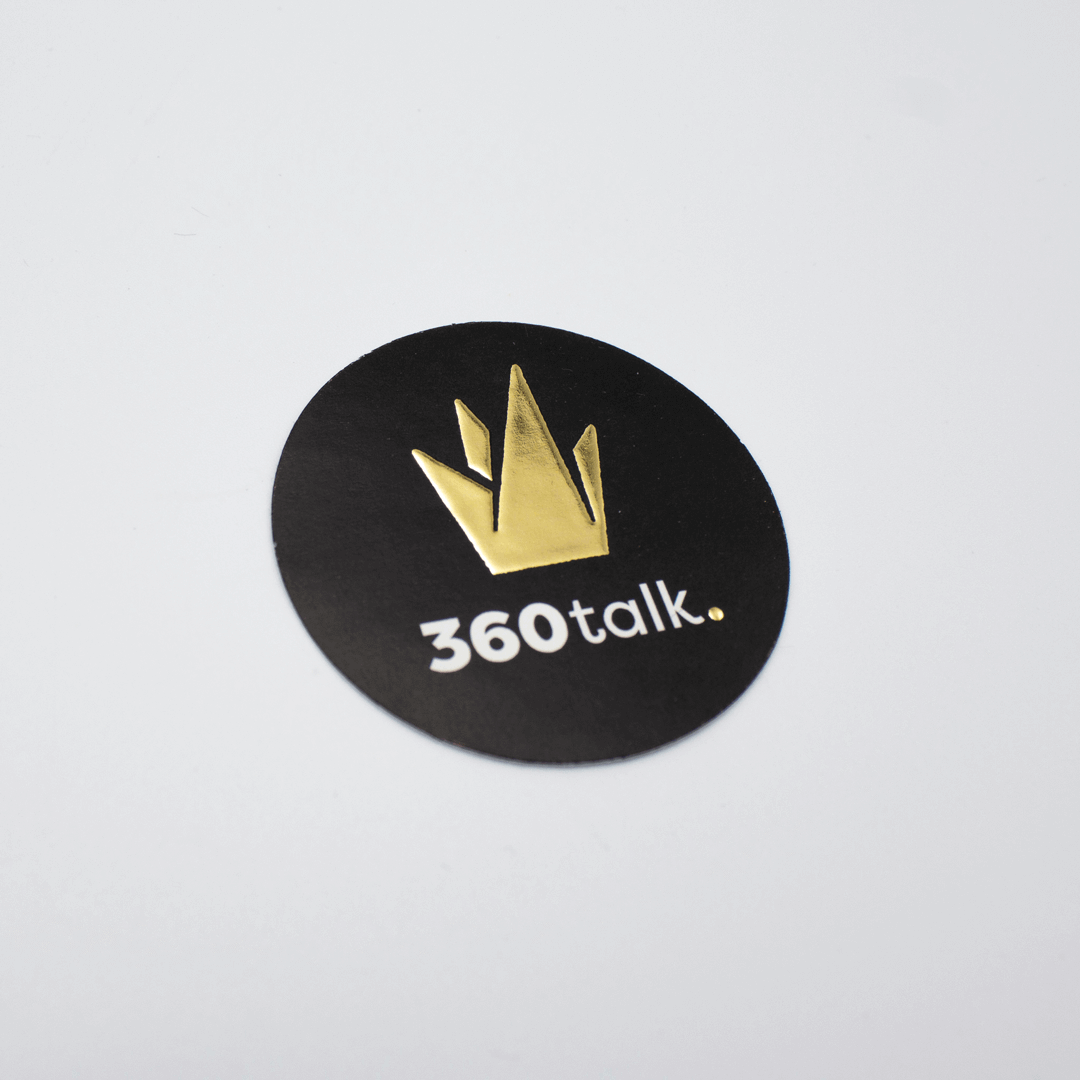 Sticker met goudfolie drukken
