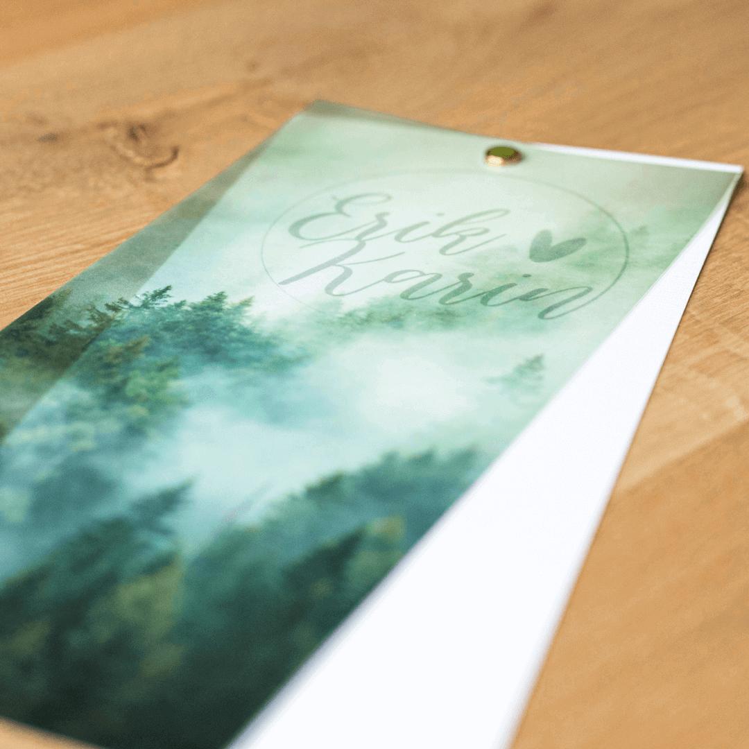 Trouwkaart met kalkpapier drukken