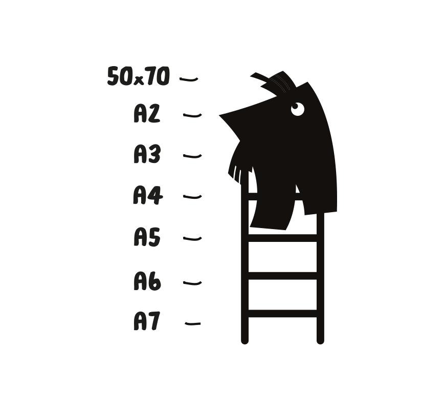 Papierformaat A4, A5 of A6