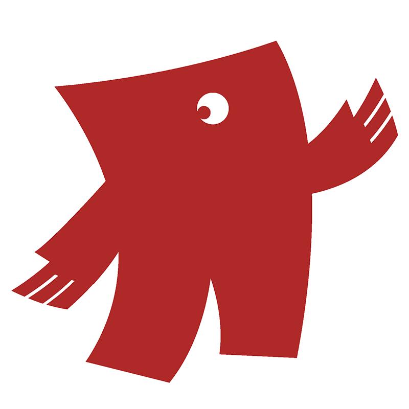 Rood in drukwerk