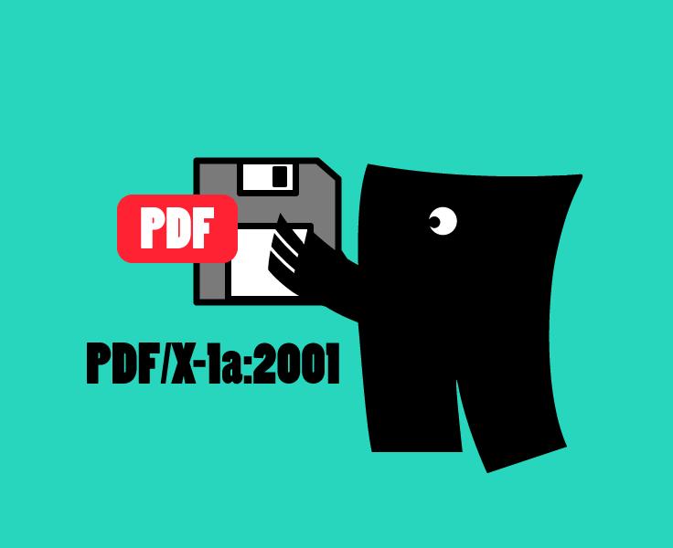 Drukbestand opslaan als PDF/X-1a:2001