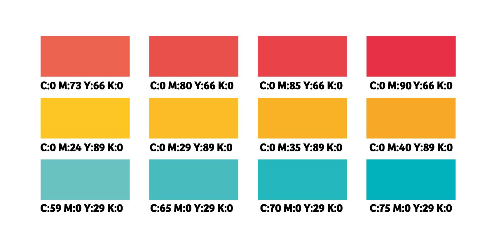 Kleurwaardes voorbeeld