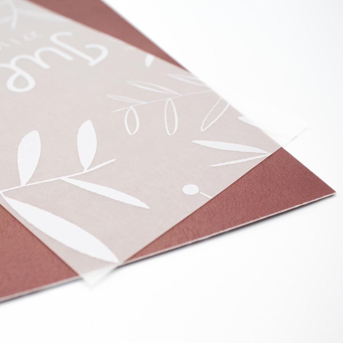 Geboortekaartje kalkpapier